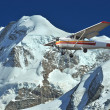 Stock Photo: Flying in mountains