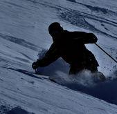 Skier in powder — Stock Photo