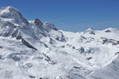 Breithorn and Kleiner Matterhorn — Stock Photo