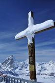 Jesus and Matterhorn — Foto Stock
