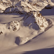 Wilderness skiing in the Swiss Alps — Foto de Stock