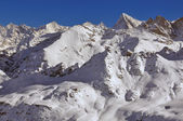 Swiss Alps: Zinalrothorn and Dent Blanche — Stock Photo