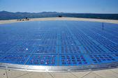 Panel circular solar — Foto de Stock