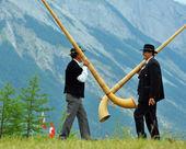 Alpine Horns — Stock Photo