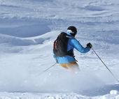Powder skiing — Stock Photo