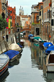 Venice Canal and street — Stock Photo