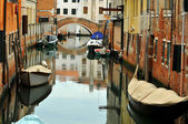 Typical canal in Venice — Stock Photo