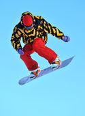 Snowboard Jump — Stockfoto