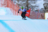Snowboard cross world championship — Stock Photo