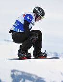 Snowboard cross world cup — Stock Photo