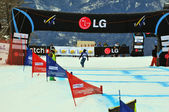 Snowboard cross world cup — Stock Photo