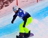 Snowboard cross world cup 2010 — Stock Photo
