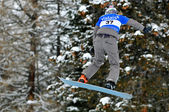 Snowboard cross world cup — Stok fotoğraf