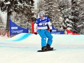 Snowboard coppa del mondo cross 2010 — Foto Stock