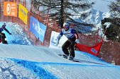 Snowboard cross world cup 2010: Watanabe — Foto Stock