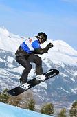 Snowboard cross world cup 2010: Francois Boivin — Stock Photo