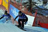 Snowboard coppa del mondo cross 2010. fujimori e doi — Foto Stock