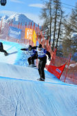 Snowboard cross world cup 2010 — Stock Photo