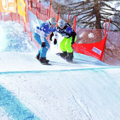 World Championship Snowboard cross Finals 2010 — Stock Photo