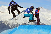 Snowboard cross world cup 2010 — Foto Stock