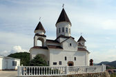 Church of St. Nicholas. Armenian Apostolic Church. Settlement Novomikhailovsky Tuapse district, Krasnodar Krai, Russia. — Stock Photo