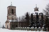 要摧毁教会在村庄的 smets、 verhovazhskogo 区、 沃洛格达州、 俄罗斯 — 图库照片