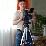 Videographer ready to shoot — Stock Photo