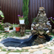 Landscaping - pond with waterfall — Stock Photo #13805185