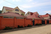 Cottages on the street in the village of Kuban Novomikhailovsky Tuapse district, Krasnodar Krai, Russia. — Stock Photo