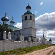 Stock Photo: Kadnikov city, VologdRegion, Russia. Church of Elijah Prophet, monument in 1710