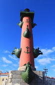 Rostral column on the Spit of Vasilievsky Island. St. Petersburg, Russia. — Stock Photo