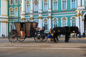 Coach at the Palace Square. St. Petersburg, Russia. — Stock Photo
