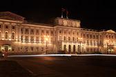 Mariinsky Palace autumn night. St. Petersburg, Russia. — Stock Photo