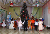 New Year party in the kindergarten — Stockfoto