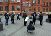 Street musicians in St. Petersburg, Russia. — Photo