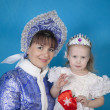 Stock Photo: Maiden with little girl