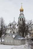 View of the Cathedral of St Sophia in the courtyard of the Vologda Kremlin, Russia — Stock Photo