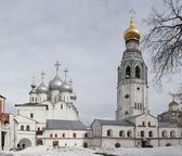 The courtyard of the Vologda Kremlin, Russia — Stockfoto