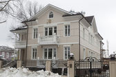 Being built in the old style cottage in the city of Vologda, Russia — Stock Photo