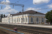 The train station Chertkovo, Rostov Region, Russia — Stock Photo