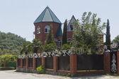 Beautiful red brick house — Stock Photo