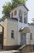 Bell tower of the parish of St Alexis in Tuapse — Stock Photo