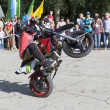 Thomas Kalinin rides a wheelie — Photo