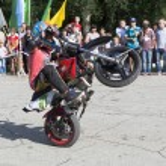 ������, ������: Thomas Kalinin rides a wheelie