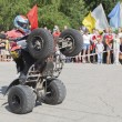 Riding on the rear wheels ATV  Thomas Kalinin — Stock Photo