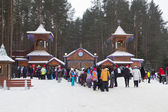 Queue on the fiefdom Father Frost Great Ustyug, Vologda region, Russia — 图库照片