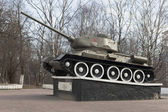 T-34 tank established in honor of military and labor Vologda heroism in World War II — Stock Photo