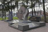 Monument - Vologodians perished in the fighting, armed conflict in defending Motherland — Stock Photo