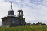 Church Ilii of the Prophet in a village Moiseevskaya, Verhovazhskogo District, Vologda Region, Russia — Stock Photo