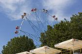 Ferris wheel in Lazarevskoye, view from the beach  Sochi, Russia — Stock Photo